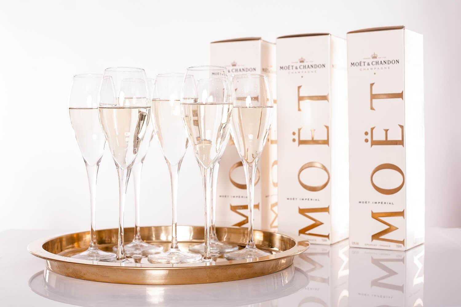 Moet Champange Welcome Drinks