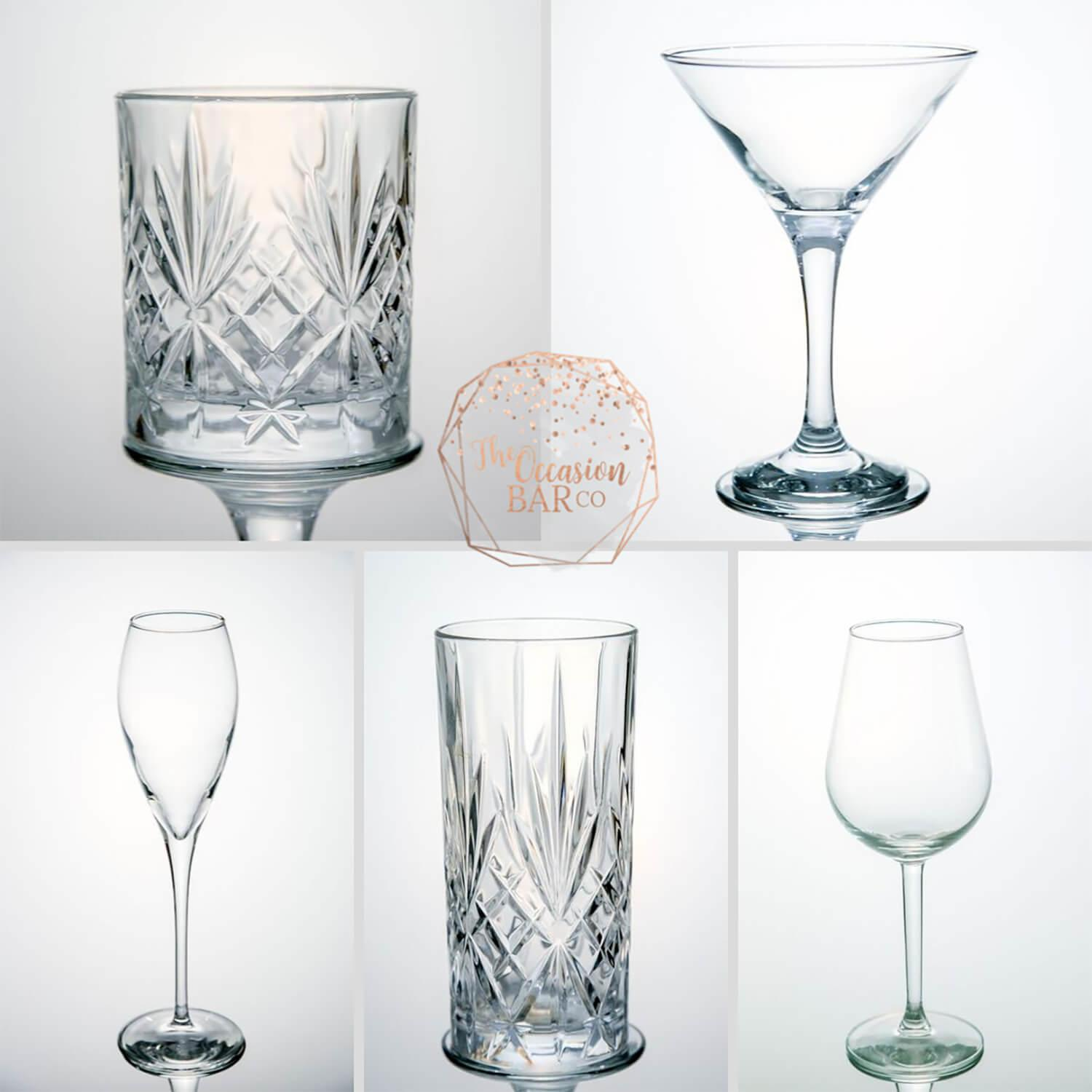 Glass Hire - Glassware