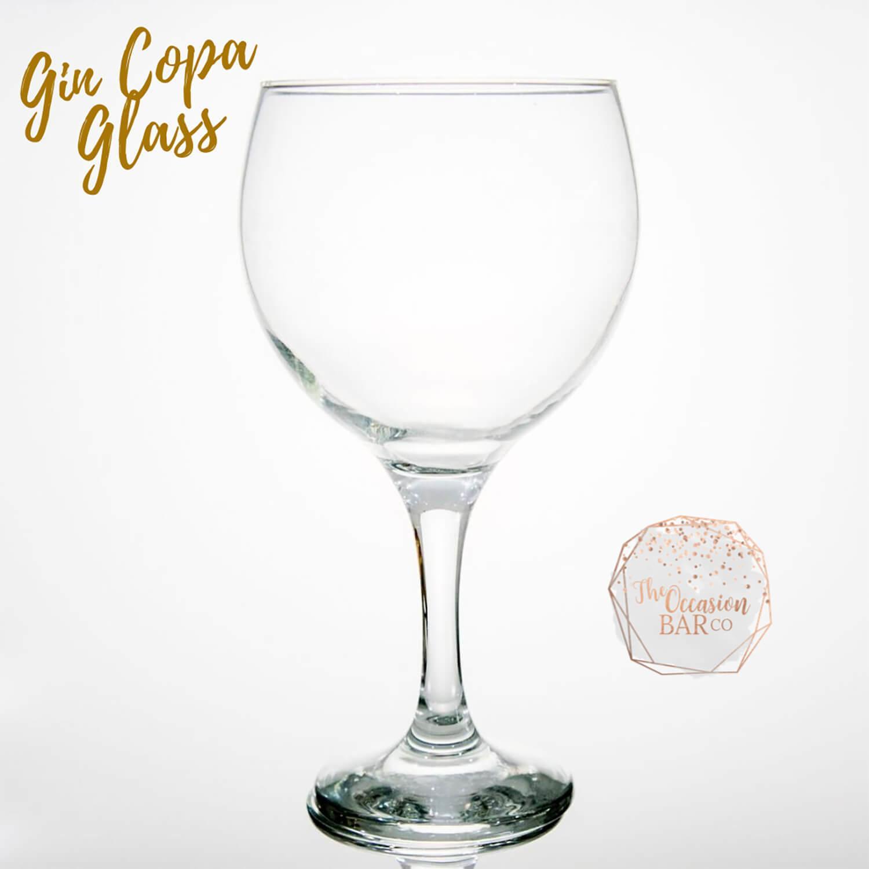Glass Hire Gin Copa